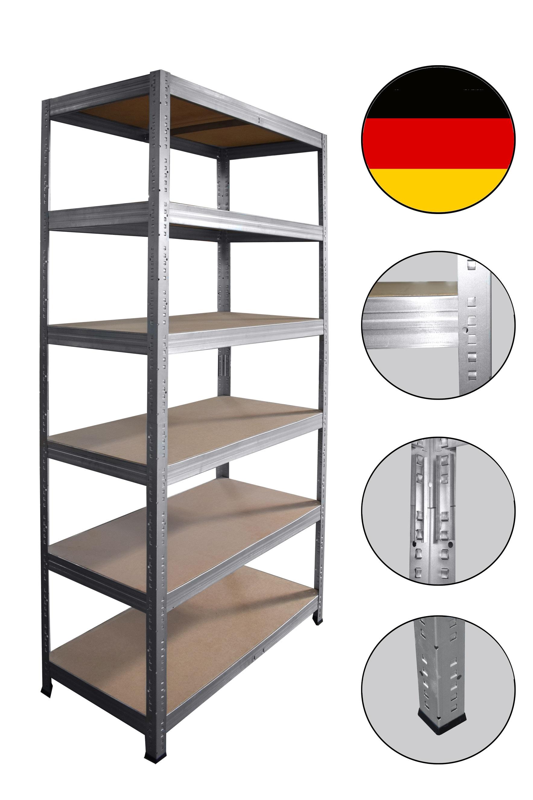 shelfplaza® PROFI Steckregal 200x75x40cm Akten Büro Garage Lager Werkstatt