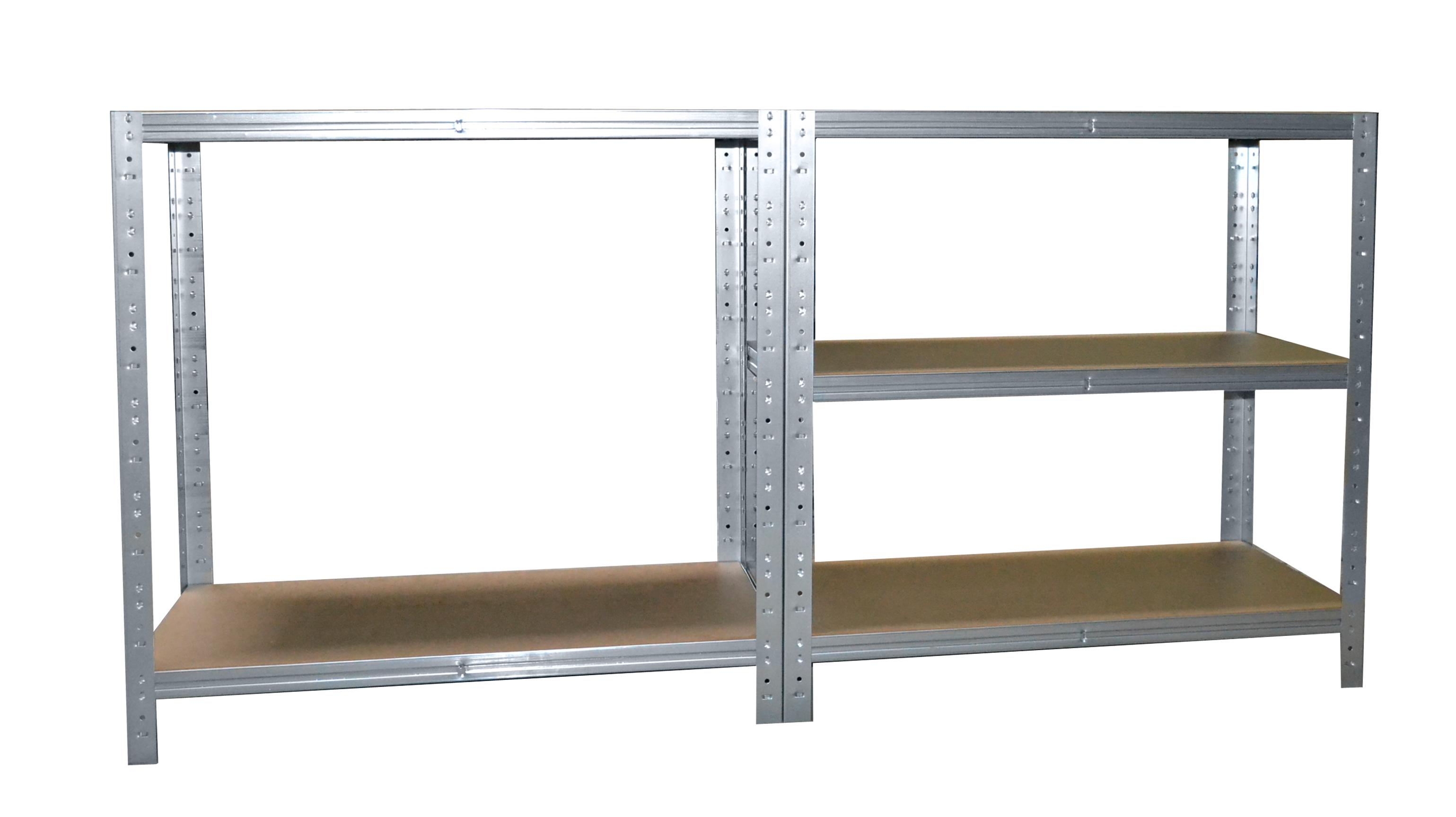 Steckregal 200x50x50 cm verzinkt Kellerregal Lagerregal Werkstattregal Metallreg